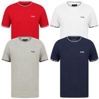 Tokyo Laundry Men's Resin Crew Neck T-Shirt Pique Cotton Casual Sportswear Top