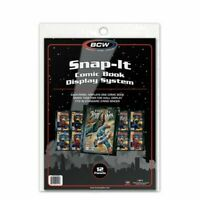 Pack of 12 High Quality BCW Black Snap- it Comic Book Display