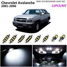 12Pcs Xenon White 6000K Interior Light Kit LED Fit For 2001-2006 Chevy Avalanche