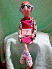 Vintage Hallmark Maxine Crabby Lady Stuffed Shelf-Sitter Doll