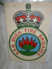 More details for large wooden n.s.w bush fire brigades sign