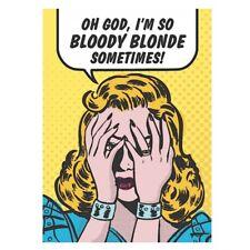 "Retro Humour ""Oh God I'm So Bloody Blonde"" Fridge Magnet Metal Novelty Gift"