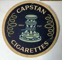 Vintage Capstan Navy cut Cigarettes advertising Beer Mat 11 cm's