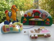 LOT JEU EVEIL ACTIVITE PIANO MUSICAL LUMINEUX CHICCO TELEPHONE BRUIN LIBOO