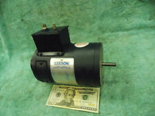 Leeson Electric Motor 14 Hp 1750 Rpm 90 Volt Vdc Dc L48z Frame 10mm Shaft 9inlb