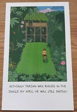 Joblot of 6 x BLANK GREETINGS CARD BY Bestie FUNNY Tarzan gardening garden theme
