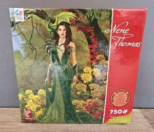 Ceaco Topaz Forest Nene Thomas 750 pc Jigsaw Puzzle 18x24 Bonus Poster US Made