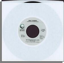 """Eric Carmen - I'm Through With Love + Maybe My Baby - 1985 7"""" 45 RPM Single!"""