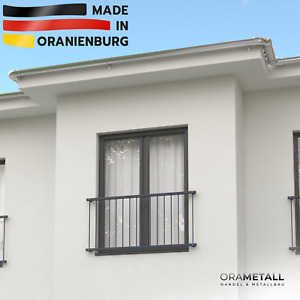 """Französischer Balkon Fenstergitter """"LOUNGE"""" von ORAMETALL Höhe 90 cm nach Maß"""