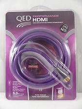 QED 5 M HDMI Cable Con Arco, LED TV, 4KTV 2160p, PS4, Xbox 1, Smart Plomo