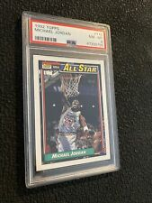 Michael Jordan PSA 8 Topps Collector Card 1992 #115 INVEST All Star Last Dance