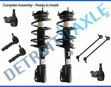 New 8pc Front Quick Strut & Coil Spring Shock Set & Sway Bar Links Ball Joints