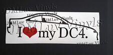 I love my DC4 JDM 94-01 Sticker decal Honda integra