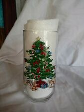 Christmas Tree Drinking Glass Luminarc Noel Cooler Tumbler 16 oz
