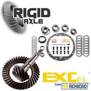 "GM 8.6"" 10 Bolt 4.10 Richmond Excel Ring Pinion Gear Set w/ Master Bearing Kit"