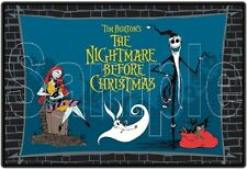 """Nightmare Before Christmas 8""""x10"""" Fabric Quilt Block Quilting Sewing Square #3"""