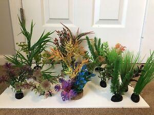 Aquapapa Aquarium Decor Plastic Plants Multicolor Artificial Plant Green #2-4 h