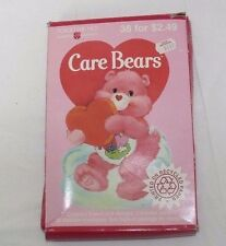 Vintage Care Bears 1992 American Greetings Box of 38 Valentines cards