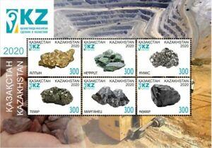 2020 Kazakhstan Minerals Gold Jade Manganese MNH