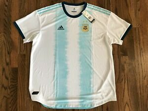 67 Adidas Men's 2019 Authentic Argentina National Team Home Jersey DP0225 2XL