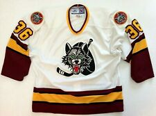 Authentic On Ice Chicago Wolves AHL Reebok Fight Strap Hockey Jersey Canada 54