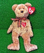 Ty Beanie Baby 2002 SIGNATURE BEAR Plush Toy RARE NEW RETIRED - Free Shipping