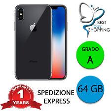 IPHONE X RICONDIZIONATO GRADO A 64 GB NERO ORIGINALE APPLE + GARANZIA 1 ANNO