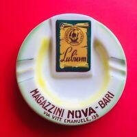 🔴 Portacenere pubblicitario Lubiam ceramica futurista anni 30 Titano San Marino