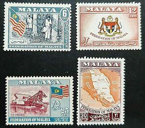 MALAYAN MALAYA ( MALAYSIA ) FEDERATION 1957 - 1962 SG 1 - 4 MNH OG FRESH