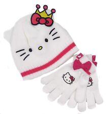 Hello kitty Chapeau Gants Ensemble Blanc et Rose 8-10 Ans Only Ex Store Derniers