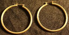 Thin golden loop medium costume earings