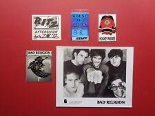 Bad Religion,B/W promo photo,8 different Backstage passes,Rare Originals