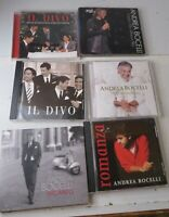 Andrea Bocelli & Il Divo CD Lot 6 Albums Incanto Romanza Christmas Used Lot Set