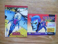 1993 MARVEL UNIVERSE IV ARCHANGEL X-MEN CARD SIGNED ART THIBERT, WITH POA