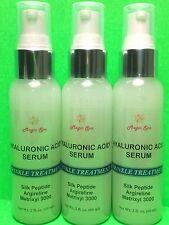 2*3oz Hyaluronic Acid Serum Face Cream Eyes Peptide Argireline Matrixyl Vit C