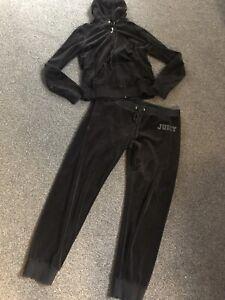 Juicy Couture Ladies Black Tracksuit Velour
