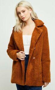 Minkpink teddy coat XS fits S 6 8 10 new no tags soft shearling jacket Mink Pink