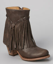 MATISSE SHOES RUMOUR FRINGE LEATHER BOOT DARK BROWN LEATHER 8 $265