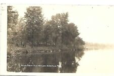 RPPC Shady Beach, Robinson Lake, White Cloud Michigan 1939