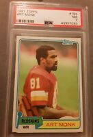 1981 Football Topps #194 ART MONK - NFL RC (Washington Redskins) PSA 7 NM