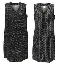 Knopfkittel Baumwolle schwarz mit Muster Hauskleid Kittel Schürze Trauer