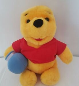 "Vintage 1997 Mattel 12"" Winnie Pooh Disney Plush Honey Pot Stuffed Animal Toy"
