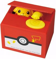 Pokemon Pikachu Moving Electronic Coin Money Piggy Bank Box toy From Japan F/S