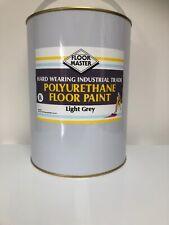 FLOOR MASTER GARAGE/WORKSHOP FLOOR PAINT 5LT LIGHT GREY used By the Professional