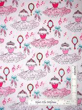 Ballerina Dance Ballet Toss Cotton Fabric Bella Rina #3438 StudioE 1.6 Yard