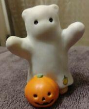 1985 Vintage Bear in Ghost Costume Pumpkin Lucy & Me Lucy Rigg Halloween Enesco