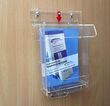 Flyerbox mit Deckel wetterfest , DIN A6 , Prospektbox,Prospekthalter