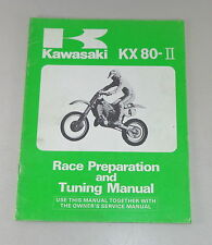 Manuale di istruzioni/Owners Manual Kawasaki KX 80-ii RACE preparation STAND 1985