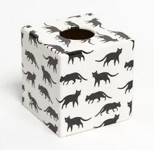 Lucky Cat Tissue Box Cover wooden handmade in UK