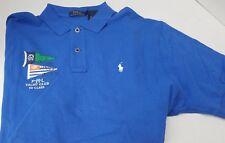 New Polo Ralph Lauren Blue Yacht Club 1st Class Flag Shirt White Pony Logo XL